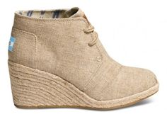 Natural Burlap Women's Desert Wedges | Dress up or down and still be comfy!