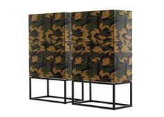 The Mogg Primalinea Cabinet by Claudio Bitetti.  Ultra modern, ultra practical cabinet, with a unique camouflage pattern.  Mogg is the hot new Italian brand created by architect Nicola Gabiati in 2012 - a collective of 'partners with vision - crazy dreamers' - designers, architects, artists, all established names and award-winners. Camouflage, 4 Poster Beds, Console, Buffet, Umbrella Holder, Making Waves, Wood Slab, Elle Decor, Simple Designs