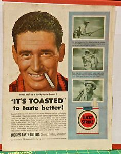 LUCKY STRIKE AD WITH TED WILLIAMS