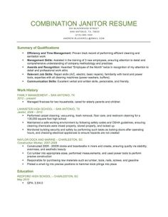 combination janitor resume sample download this resume sample to use as a template for writing