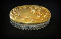 Art Nouveau Style Repousse Trinket or Dresser Box by baublology
