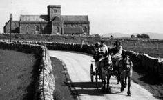Tour Scotland Photographs: Old Photograph Horse And Carriage Iona Scotland