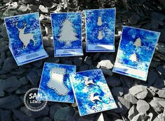 Christmas Cards by Sam Lewis AKA The Crippled Crafter Spectrum Noir, Markers, Embellishments, Christmas Crafts, Daisy, Aqua, Cards, How To Make, Inspiration
