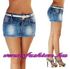 58230329539a Szuper szexi farmer mini szoknya övvel XS S M L XL - Venus fashion női ruha  webáruház