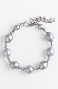 Dabby Reid Glass Pearl & Crystal Bracelet available at Nordstrom