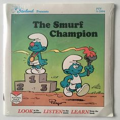The Smurf Champion SEALED 7' Vinyl Record / Book Starland
