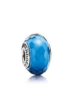 PANDORA Charm - Murano Glass Aqua Fascinating   Bloomingdale's