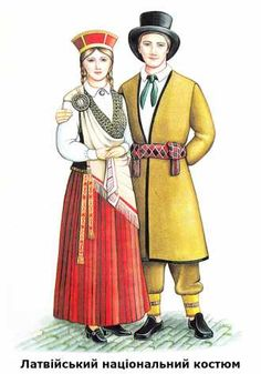 Латвійський національний костюм Fabric Doll Pattern, Fabric Dolls, Folk Costume, Costumes, Develop Pictures, Folk Clothing, People Of The World, Folklore, Teaching Kids