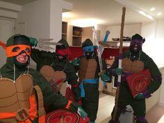 Déguisement fait maison home made costume disguise Tortues Ninjas Turtles Pizza DIY homemade Turtle ninja