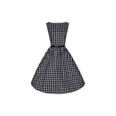 Lindy Bop Audrey Black Window Retro šaty ve stylu 50. let. Velmi příjemné a decentní šaty vhodné do zaměstnání či běžné nošení díky svému příjemnému materiálu podobnému flanelu (100% bavlna) a klasické černo bílé barevné kombinaci velmi pohodové. Zapínání vzadu na zip, lakovaný černý pásek součástí. Pro bohatší vzhled sukně doporučujeme doplnit spodničkou, buď v černé nebo bílé barvě. Vintage Inspired Fashion, Vintage Inspired Dresses, Dress Vintage, Black Windows, Check Dress, Aud, How To Wear, Inspiration, Retro