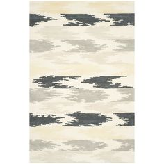 Safavieh Hand-Tufted Soho Ivory/ Grey Wool/ Viscose Rug (7'6 x 9'6) | Overstock.com Shopping - The Best Deals on 7x9 - 10x14 Rugs