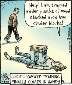 Karate Training Comes In Handy  I needed this 40 yrs ago!Ha!