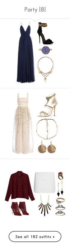"""Party [8]"" by gdavilla ❤ liked on Polyvore featuring Jenny Packham, Giuseppe Zanotti, Irene Neuwirth, Temperley London, Oscar de la Renta, AURA Headpieces, Brooks Brothers, Alexander Wang, Monki and Jimmy Choo"