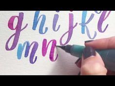 Watercolor alphabet lettering - YouTube
