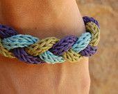 Knitted Braid Bracelet / Pulsera tejida y trenzada