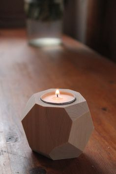 Candle holder wooden mirror by Sinaboudalily on Etsy