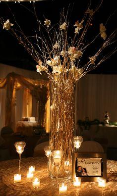 Árboles de papel para la mesa