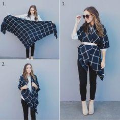 Las 13 maneras más geniales de anudar una blanket scarf