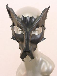 Gray Wolf Leather Mask.   Follow us! - http://starshipseraphm.blogspot.com/p/home.html