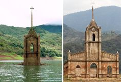 Before-and-After Pictures: Underwater Church Reappears