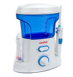 Useful UHWF200 Water Flosser  Pulsating Jet with 10 Speeds 600 mL Tank 7 Tips Holding Tray Ultra Compact Size * Read more at the image link.