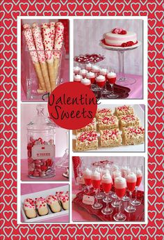 See two different Valentine's Day Parties. Check out the treat table and all the sweets.  #ValentinesDayFood #ValentinesdayTreats