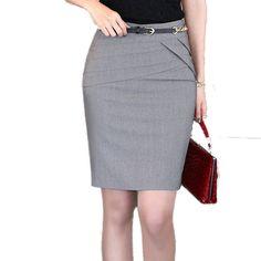 Hot Sale 2014 Summer Women Slim Hip Career Short Skirts Ladies Sexy High Waist  Knee-Length Pencil Skirt 4 Colors Plus Size