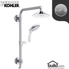 Kohler HydroRail K-99105/K-17493 Package Moxie HydroRail Shower Package with Sin Polished Chrome Faucet Shower System Custom Shower