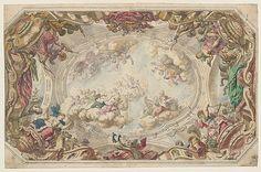 Design for a Ceiling Daniel Marot the Elder,  French, Paris