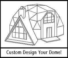 Geodesic Dome & A-Frame Kits & Plans for domes from to Homes-Restaurants-Rental Units-Condo's-Retreats-Chalets-Professional Buildings - A Frames & Doublewides Casa Octagonal, Yurt Home, Geodesic Dome Homes, Earthship Home, Dome Greenhouse, Dome House, Prefab Homes, House Layouts, Green Building