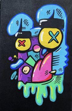 Graffiti Doodles, Graffiti Drawing, Graffiti Art, Doodle Art Drawing, Drawing Sketches, Animal Drawings, Art Drawings, Graffiti Characters, Grafiti