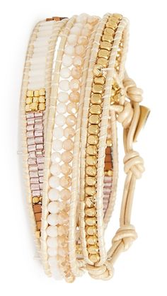 Play up the bohemian vibe of any look with this  gorgeous wrap bracelet.