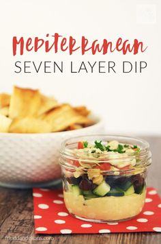 My Mediterranean Seven Layer Dip is sure to be a hit at your next party! (vegan, gluten free, nut free, soy free option) /frieddandelions/