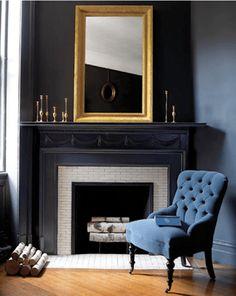 black-fireplace-mant