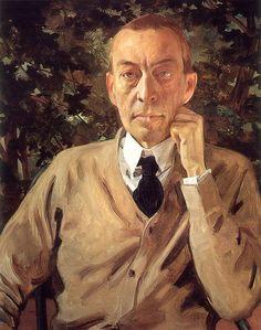 Konstantin Somov - Portrait of Serge Rachmaninov
