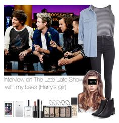 """Interview on The Late Late Show with my baes (Harry's girl)"" by jaynnelinsstyles ❤ liked on Polyvore"