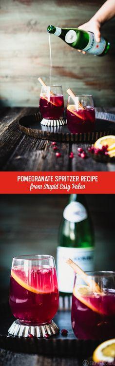 Pomegranate Spritzer Recipe   StupidEasyPaleo.com
