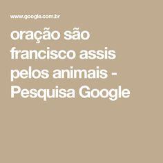 oração são francisco assis pelos animais - Pesquisa Google