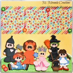 Over the Rainbow Oz One Page Premade Scrapbook Paper Piecing M Miranda Creations