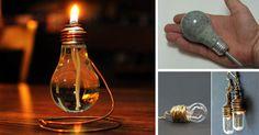 DIY kreatívne nápady / spôsoby ako znovu využiť vypálené žiarovky. Premeňte ich kreatívnym spôsobom na vázu, terárium či dekoráciu. Recyklácia žiaroviek
