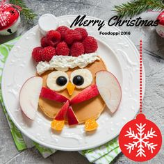 Check out this Food Art. Christmas Owl Pancakes are so delicious and just a little bit naughty.