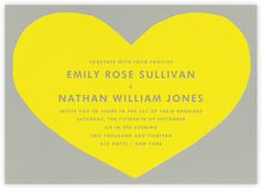 Heart - Yellow Gray - Paperless Post