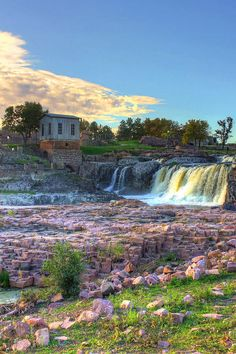 Morning Falls 06 is a photograph by Frank Thuringer. Morning photo from Falls Park in Sioux Falls, SD. Source fineartamerica.com