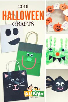 Fun Halloween crafts for kids of every age - pumpkins, spiders, ghosts, witches... http://www.allkidsnetwork.com/crafts/halloween/