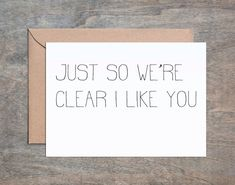 I Like You. Funny Anniversary card. Anniversary card. Happy Anniversary card. Funny Valentine's Day card. Husband birthday card. Funny birthday cards for men. Funny birthday card husband. Funny birthd