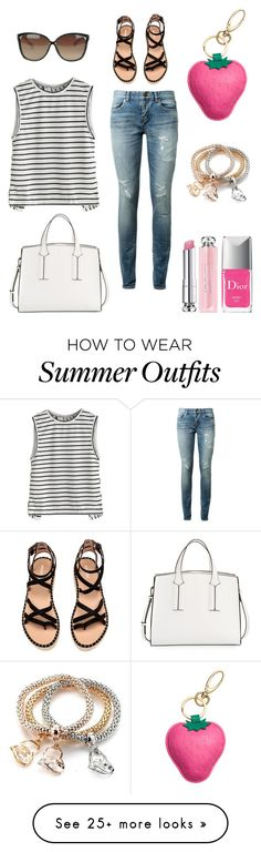 """Quick Run to Ulta Beauty Store Outfit"" by theresilientgirl on Polyvore featuring Yves Saint Laurent, French Connection, Christian Dior and Linda Farrow"