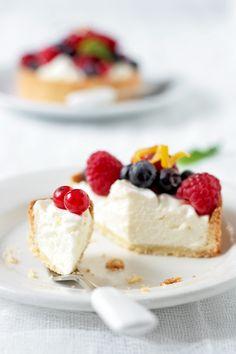 ... goat cheese and fresh berries tarts ...