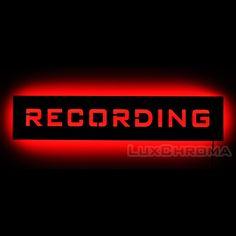 Recording Studio Warning Sign