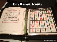 Busy Binders with dry erase pages