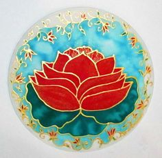 Red Lotus Mandala mandala art lotus art yoga by HeavenOnEarthSilks, $32.00